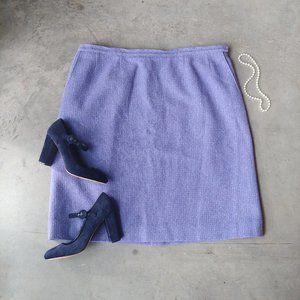 Vintage Pendleton Purple Wool Tweed Skirt 24W